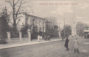 Claremont Road and Clock Tower Surbiton