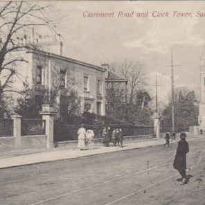 Claremont Road and Clock Tower Surbiton