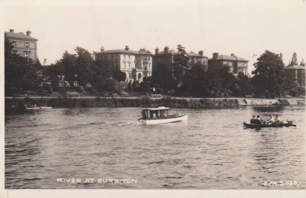 View of the river at Surbiton, 1942