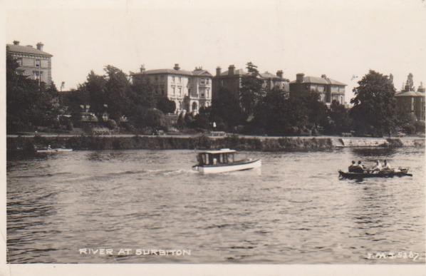 View of the river at Surbiton, 1942