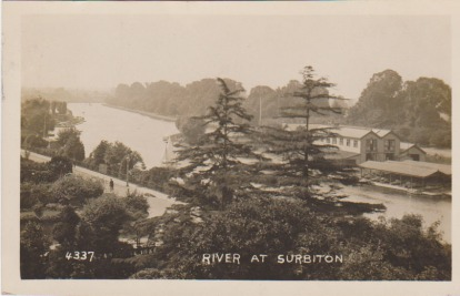 View of the river at Surbiton